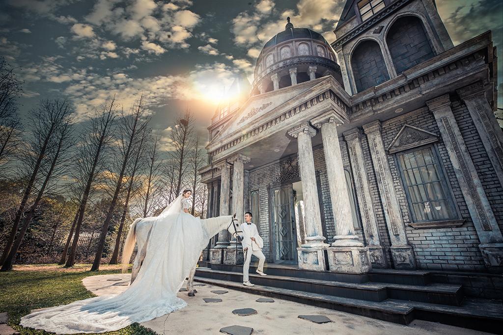 宮廷古堡婚紗 浪漫中古歐洲夢幻羅曼史 帝芬妮台中婚紗