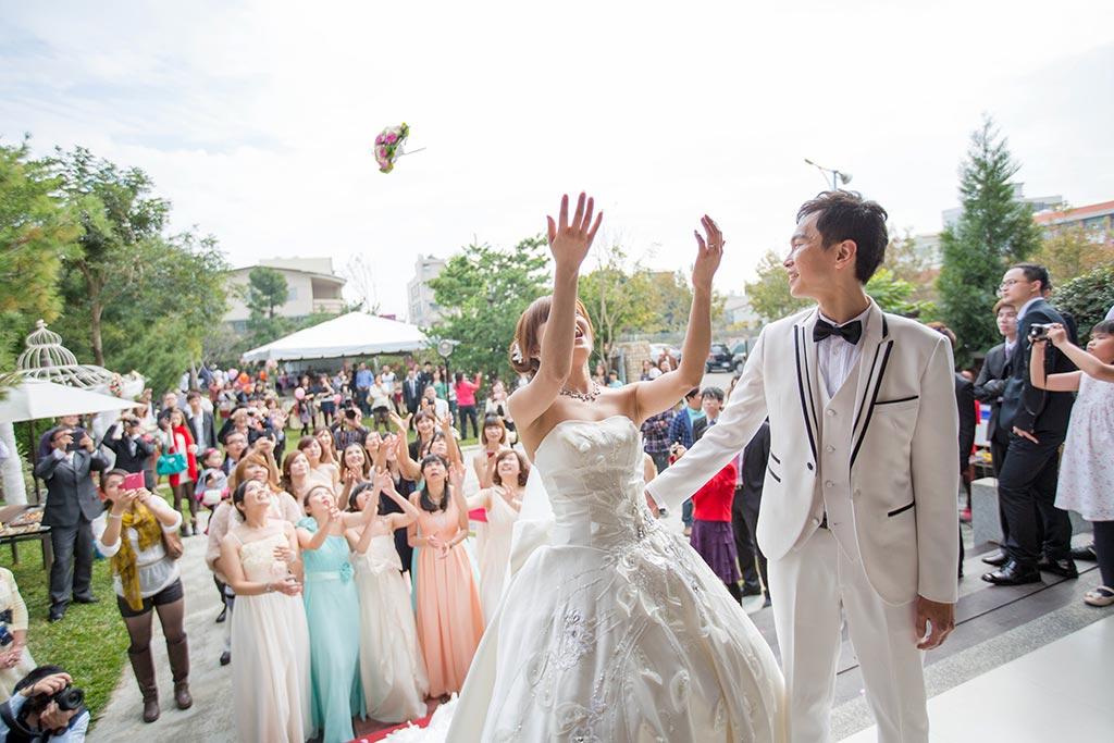 婚禮攝影-接捧花