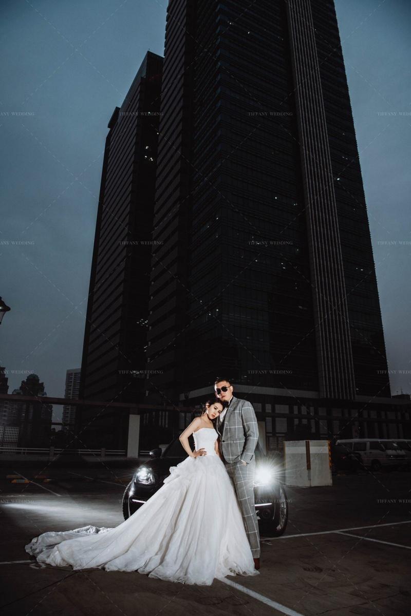 台中婚紗 城市街拍婚紗照分享 人像婚紗 跑車婚紗
