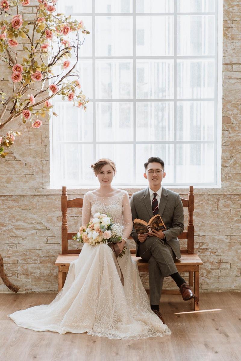 台中婚紗照分享推薦-室內棚拍婚紗的愛情溫度