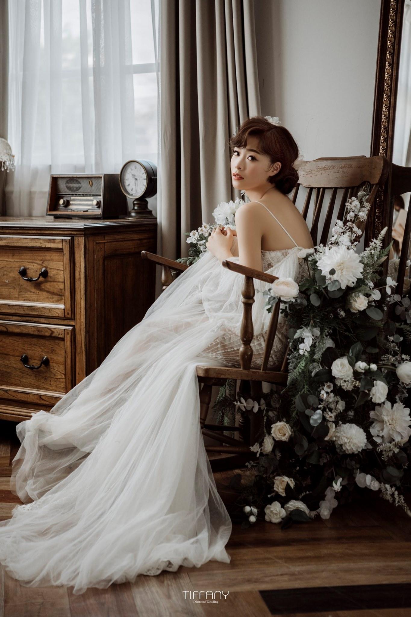 法式新娘的輕柔甜美,隨性而有型