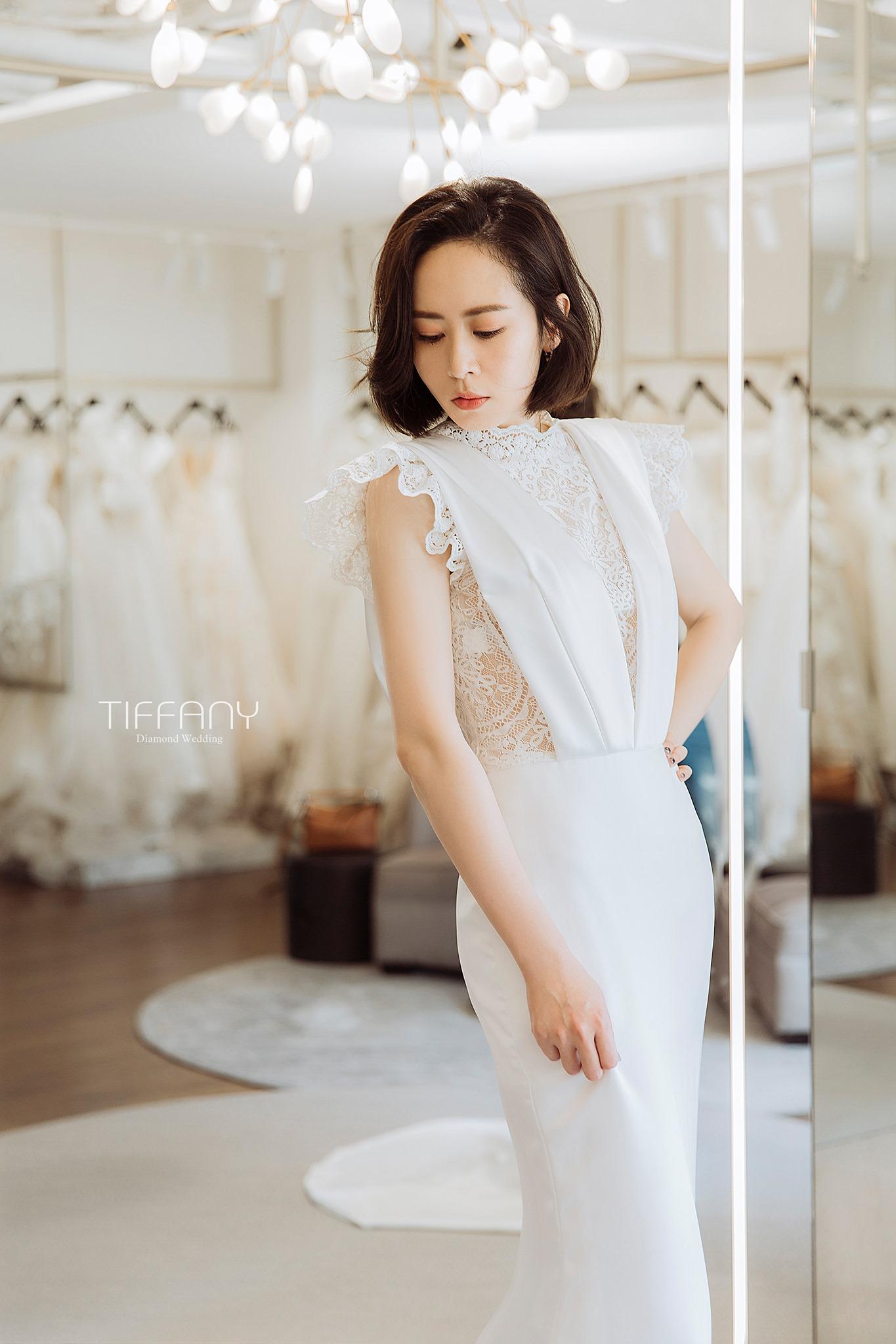 台中婚紗禮服 女神款白紗 帝芬妮精品婚紗