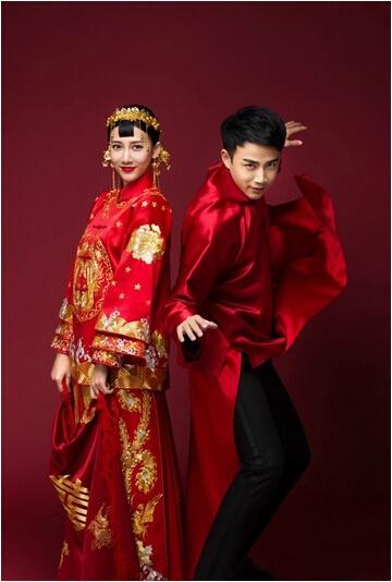 中式婚紗-風華絕輪-盤點10大女星中式婚禮-弦子-李茂-1.jpg